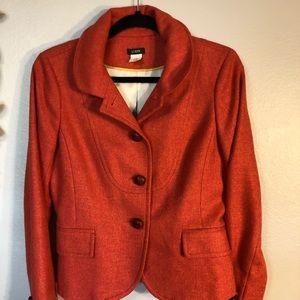 JCrew Orange Wool Blazer!! Soooooo Perfect!❤️